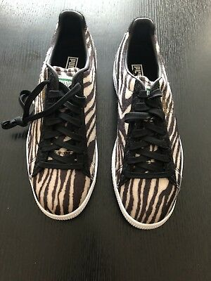 df80439003be21 Puma Men s Clyde Suits OATMEAL BLACK WHITE 363426-01 ZEBRA Print Size 10