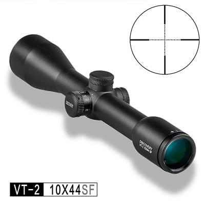 DISCOVERY VT-2 10X44 SF, MIL DOT, FIXED 10X SCOPE with COVERS AND MOUNTS