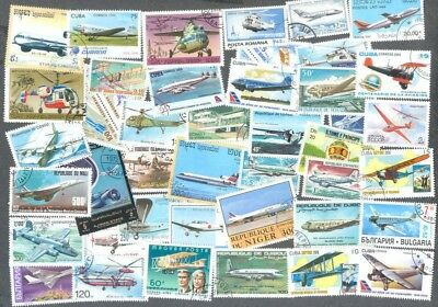 Aviation-Aircraft 200 all different stamp collection