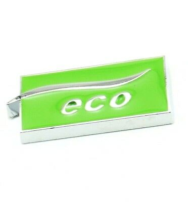 ECO Badge 3D Metal Chrome LPG Auto Gas Boot Emblem Logo Sticker Adhesive Green