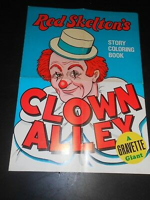 "Red skelton's STORY COLORING BOOK POSTER 161/2 --23""  VERY VIVID Colors"