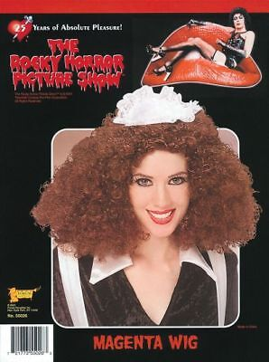SALE! Rocky Horror Magenta Wig Ladies Fancy Dress Costume Party Accessory