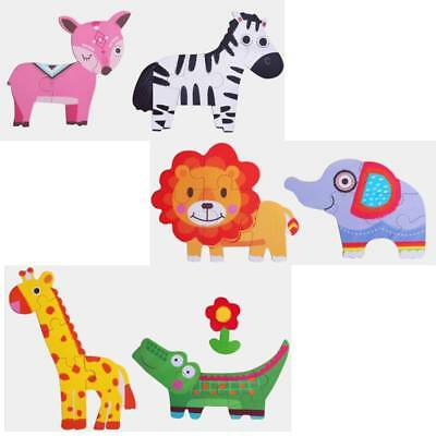 Baby Kids Wooden Animal Traffic Puzzle Jigsaw Early Learning Educational Toys