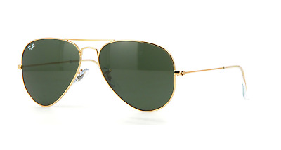 Ray-Ban RB3025 W3234 55MM Aviator Gold Sunglasses G15 Green Lens 100%UV
