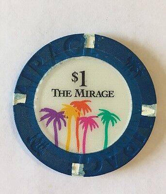 THE MIRAGE Las Vegas, NV $1 casino poker chip