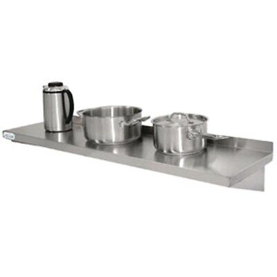 Vogue Stainless Steel Kitchen Shelf 1200mm (Next working day UK Delivery)
