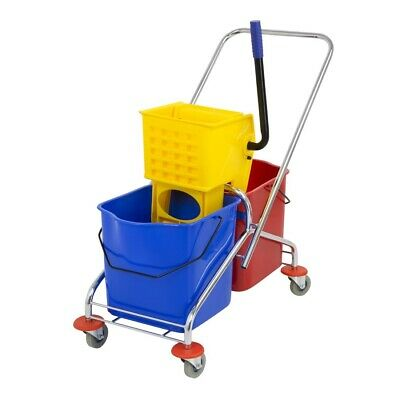 Jantex Dual Bucket Mop Wringer with Frame (Next working day UK Delivery)
