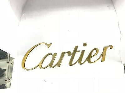 """Gold Plated """"Cartier"""" Logo From 1980's Showcase (Slightly Tarnished Due to Age)"""