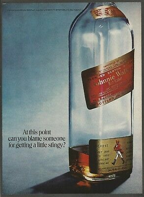 JOHNNIE WALKER Red Label Scotch Whisky - 1971 Vintage Print Ad