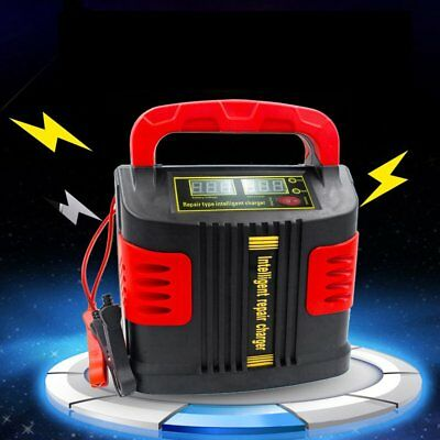 350W 14A LCD Auto Car Battery Charger 12V/24V Vehicle Jump Starter Fast Safety A