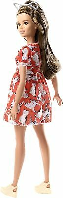 Barbie FJF57 Fashion and Beauty Fashionistas Doll-Kitty Dress-Petite with Lon...