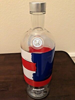 The Limited Edition Absolut Vodka America Bottle 1.75 Liter! (Empty) - Rare!