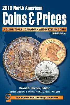 Krause 2019 North American Coins & Prices Catalog Pricelist Canada US & Mexico