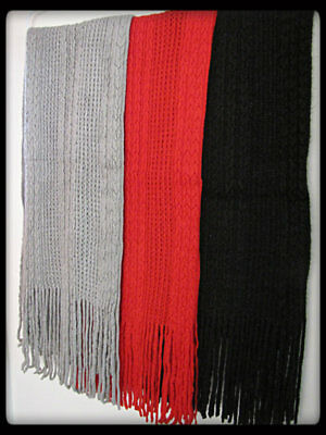 ~~BLACK~RED~GREY PACK OF 3 WOMENS SCARVES~~(Plus Free Gift)