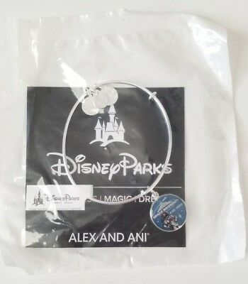 NWT Disney Parks Alex and Ani Space Mountain Silver Charm Bangle Bracelet