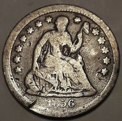 1856 Seated Liberty Half Dime    11178b