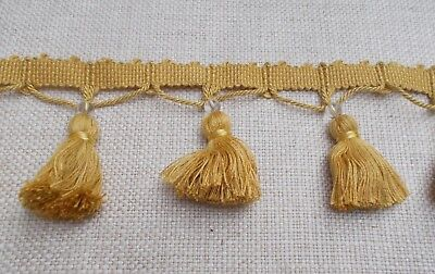 Zoffany 3 Inch  Tassle & Bead Fringe - Yellow - Ztmg05012  Sold By The Metre