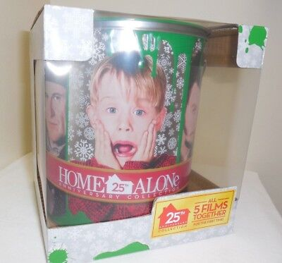 NEW~ Home Alone COMPLETE 5 DVD Blu-Ray Movies COLLECTOR SET Tin 25 Yrs EXCLUSIVE