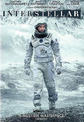 Interstellar (New Sealed DVD, 2015) Matthew McConaughey, Anne Hathaway