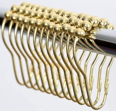 High Quality Rustproof Stainless Steel (Polished Brass) Shower Curtain Hooks and