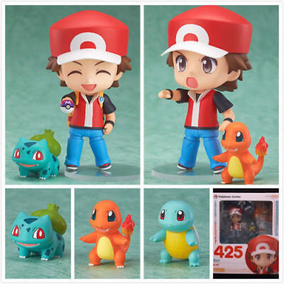 Pokemon Ash Ketchum Bulbasaur Charmander Squirtle Figuras de Acción Anime Toy De