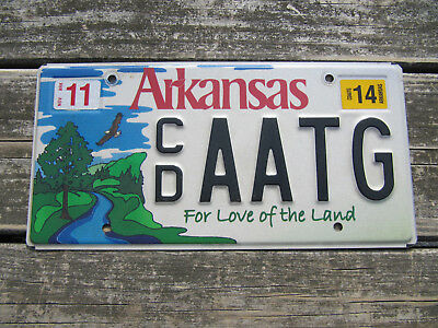 2014 Arkansas For the Love of The Land License Plate State Parks Wildlife Park