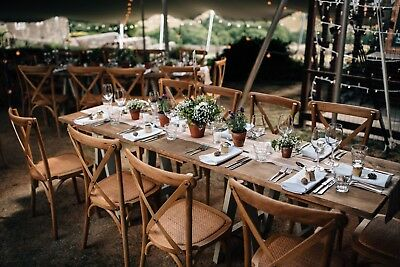 Rustic Wooden Trestle Tables / Dining Tables - Wedding, Restaurant, Weddings