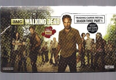 The Walking Dead Season 3 Pt 1 Hot Topic Exclusive Box! Htf!!