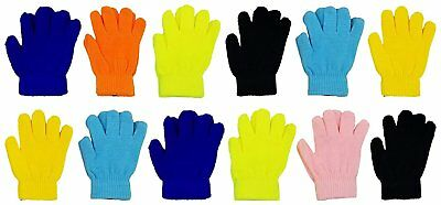 Kids Winter Magic Gloves, 12 Pairs Warm, Cute, Fun, Colorful, Stretchy...
