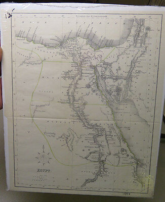 Vintage Map of Egypt with Greek and Latin Names