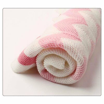 Baby Blanket Knitted Newborn Swaddle Wrap Blankets Super Soft Toddler Blankets A