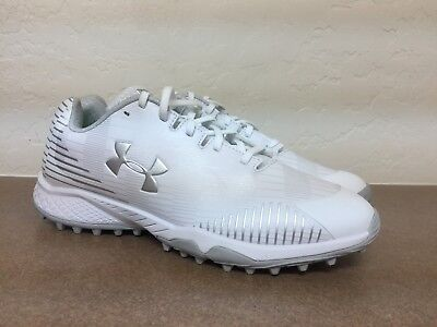 UNDER ARMOUR WOMENS WHITE LAX FINISHER TF CLEATS Siz 10.5 1297346-101