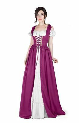 Renaissance Medieval Irish Costume Over Dress & Boho Chemise Set  SALE!!!