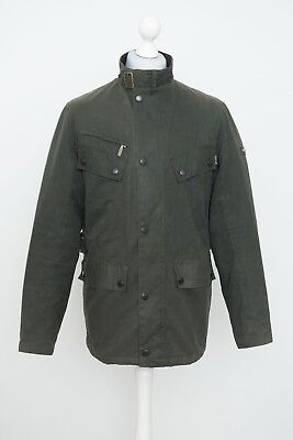 Rare Barbour International Colomer Wax Cotton With Badge Jacket Size L