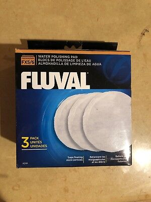 New Fluval FX5 Polishing Canister Filter Pad White 3 Pack Hagen A-246 OEM