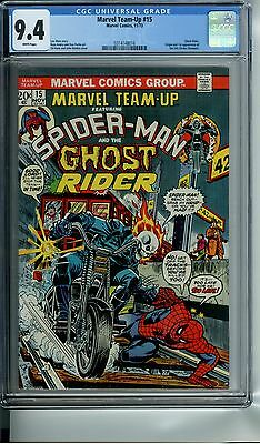 Marvel Team-Up #15 Cgc 9.4 White Pages Origin And 1St App The Orb Ghost Rider