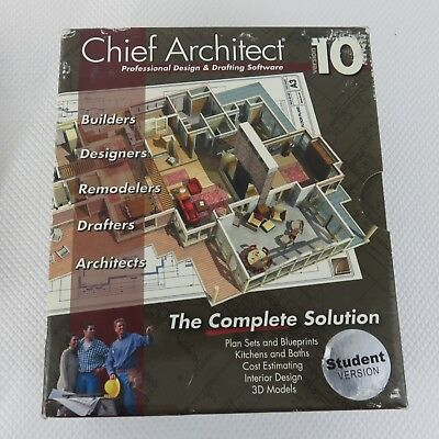 CAD Chief Architect Professional Home Design Drafting Software Version 10 2005