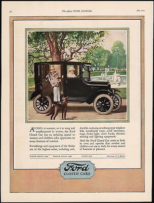 Vintage magazine ad FORD CLOSED CARS from 1924 Model T car pictured n-mint cond