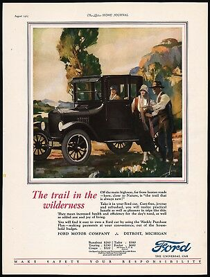 Vintage magazine ad FORD The Universal Car 1925 Model T Runabout Walter Seaton