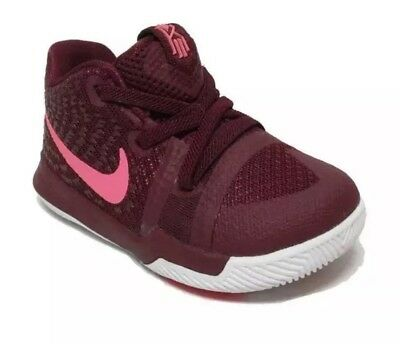 0ff7afb2b7 BOY'S NIKE KYRIE 3 (TD) TODDLER BABY shoes Team Red 869984 681 Size ...