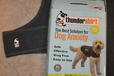 ThunderShirt Classic Dog Anxiety Jacket Solid Grey Size L w/ box New Style large