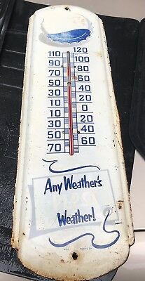 vintage pepsi cola any weather's weather! thermometer M165