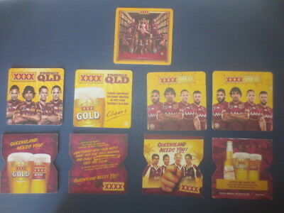 9 different CASTLEMAINE XXXX / RUGBY League Issue,collectable BEER  COASTERS ,