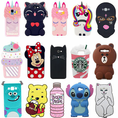 3D Cartoon Soft Silicone Back Case Cover For Samsung A3 5 7 16 2017 J2 5 7 Prime