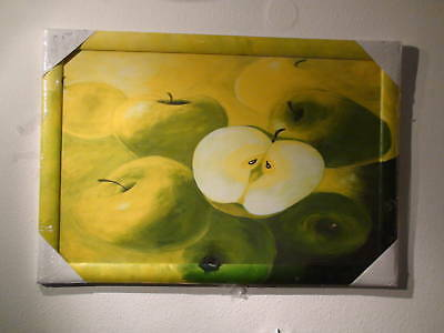 Hand-Painted Unique Picture Painting Art Print Fruit Apple Green Apple 960x660mm