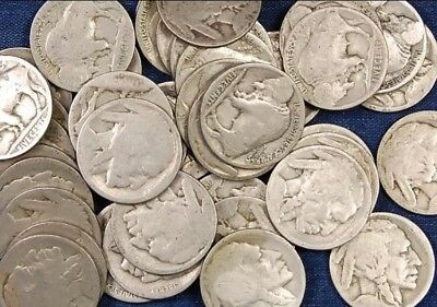 Circulated Roll Of Buffalo Nickels VG-better Lot Of 40