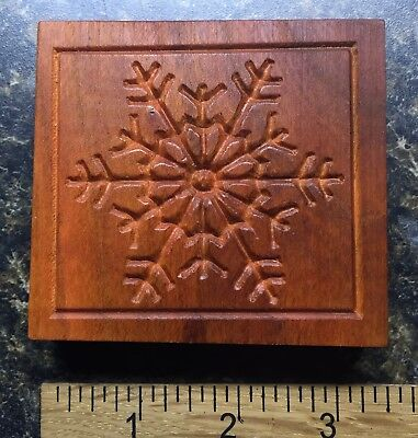 Lacey Snowflake Square Border - Wood Carved Springerle Cookie Mold -Handmade Usa