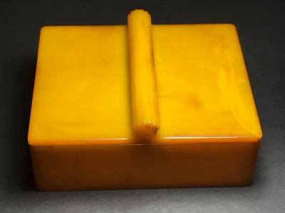 Art Deco Butterscotch Bakelite Cigarette Box