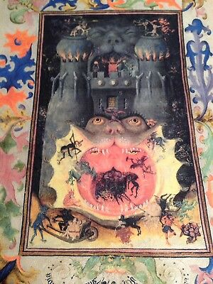 The Mouth of Hell Book of Hours.Illuminated Manuscript  New