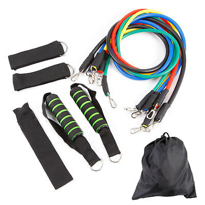 Fitness Resistance Bands Set With Handles Tubes Exercise Gym Loop Bands